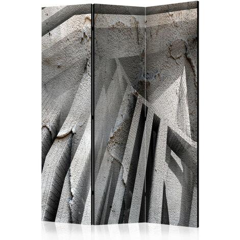 Paravent 3 volets - Beton 3D [Room Dividers] 135x172