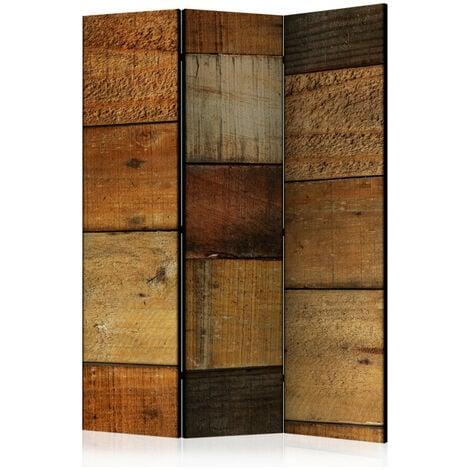 Paravent 3 volets - Wooden Textures [Room Dividers] 135x172