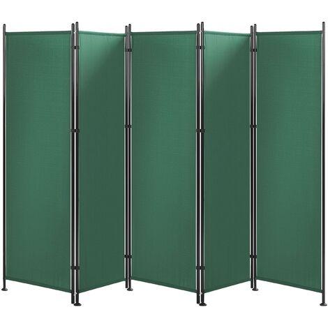 Paravent 5 volets 270 x 170 cm vert NARNI