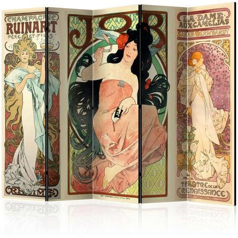 Paravent 5 volets - Alphonse Mucha. Women's II [Room Dividers] 225x172