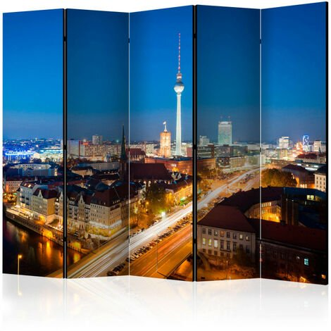 Paravent 5 volets - Berlin by night II [Room Dividers] 225x172