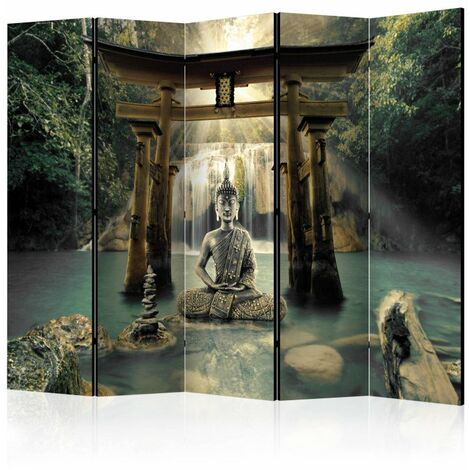 Paravent 5 volets - Buddha Smile II [Room Dividers] 225x172