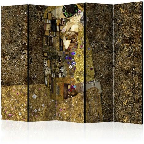 Paravent 5 volets - Golden Kiss II [Room Dividers] 225x172