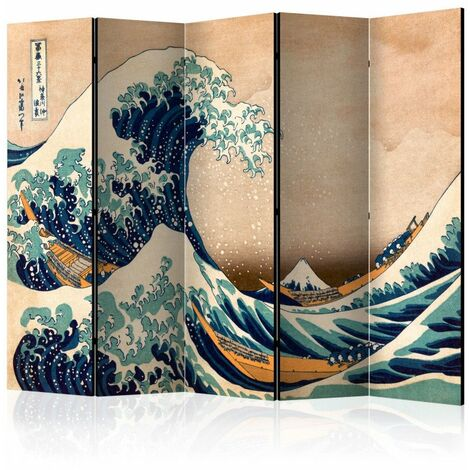 Paravent 5 volets - Hokusai: The Great Wave off Kanagawa (Reproduction) II [Room Dividers] 225x172
