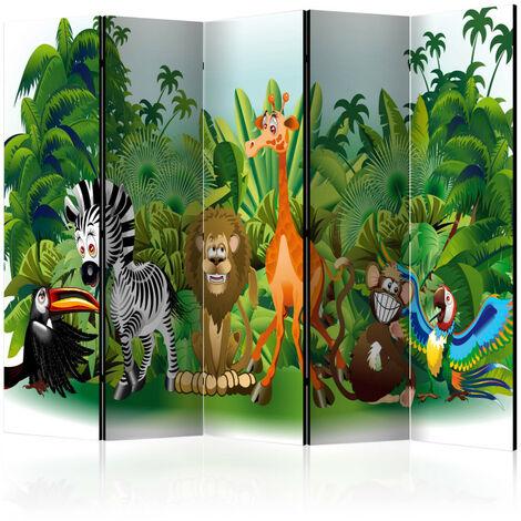 Paravent 5 volets - Jungle Animals II [Room Dividers] 225x172