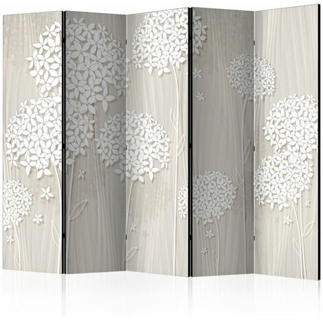 Paravent 5 volets - Paper Dandelions II [Room Dividers] .Taille : 225x172