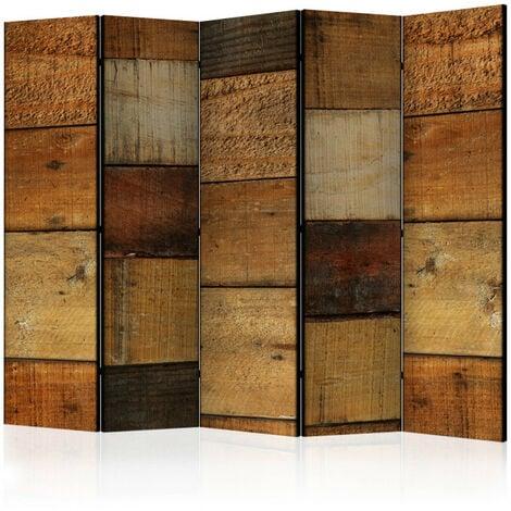 Paravent 5 volets - Wooden Textures II [Room Dividers] 225x172