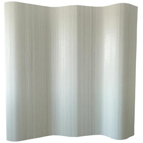 Paravent bambou blanc 200 x 250 cm