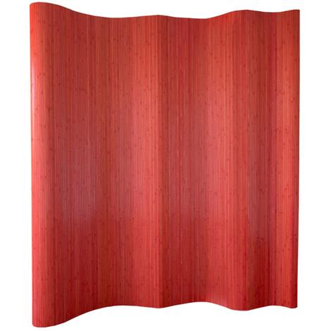 Paravent bambou rouge 200 x 250 cm