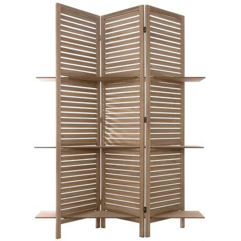 Paravent bois 3 etageres - L. 120 x l. 26 x H. 170 cm -PEGANE-