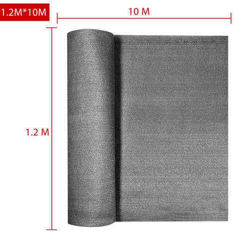 Paravent Brise-vue 10m Brise Vent Anti-Regards Clôture résistant avec attache-câbles Anthrazit 1,2x10m (de)