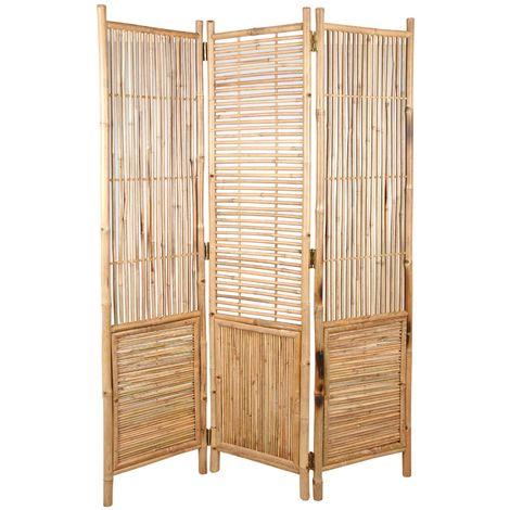 Paravent en bambou 3 panneaux