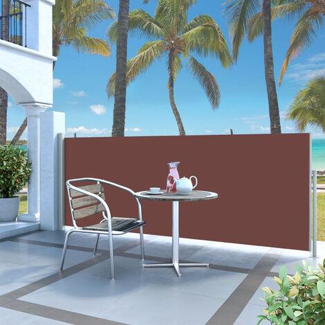 Paravent Exterieur Auvent Lateral Retractable 120 X 300 Cm Marron