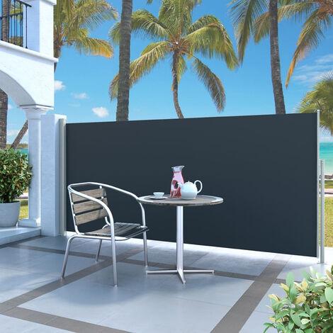 Paravent Exterieur Auvent Lateral Retractable 140 X 300 Cm Noir