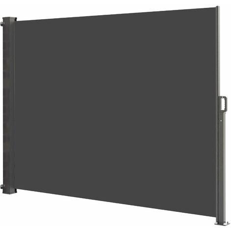 Paravent extérieur rétractable 140x300 cm PHOENIX gris