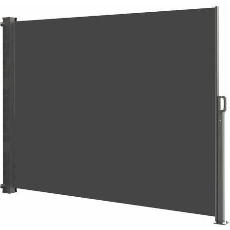 Paravent extérieur rétractable 160x300 cm PHOENIX gris