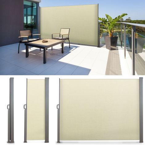 Paravent Extérieur Rétractable 300x200cm écru Store Vertical