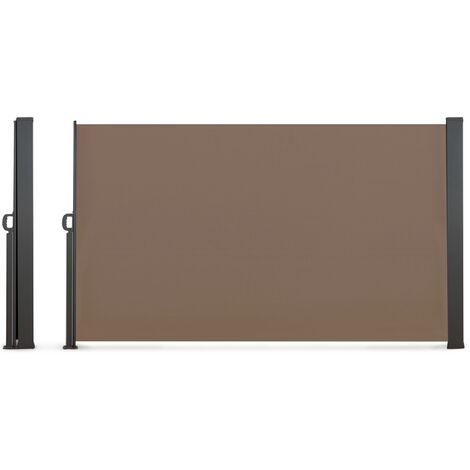 Paravent extérieur rétractable 400 x 180 cm taupe store latéral