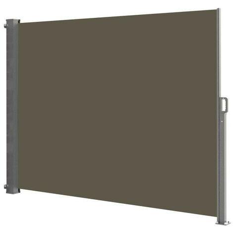 Paravent rétractable 140x300 cm PHOENIX taupe en polyester