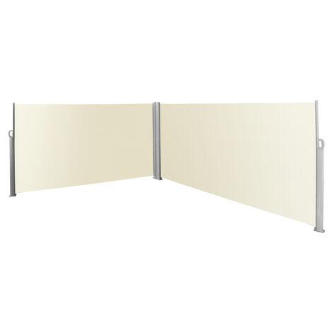 Paravent rétractable double coloris beige