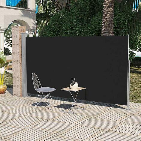 Paravent Store vertical Patio Terrasse 160 x 300 cm Noir HDV26256
