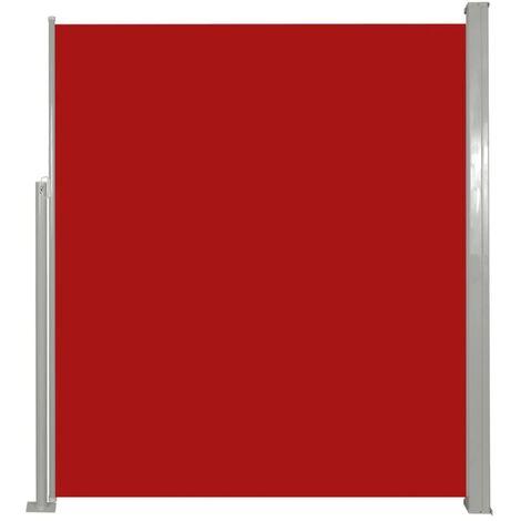 Paravent Store vertical Patio Terrasse 160 x 300 cm Rouge