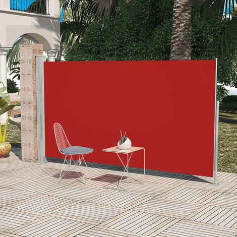Paravent Store vertical Patio Terrasse 180 x 300 cm Rouge