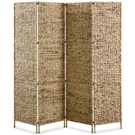 Tessuto Rustico con Tendina Separ/è 180 x 132 x 1,8 cm da Terra 180x132 cm Relaxdays Divisorio in bamb/ù 3 Pannelli Pieghevole Naturale