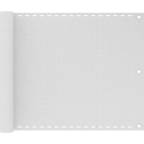 Paravento da Balcone HDPE 75x400 cm Bianco
