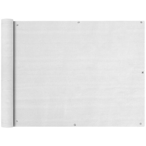 Paravento da Balcone HDPE 90x600 cm Bianco