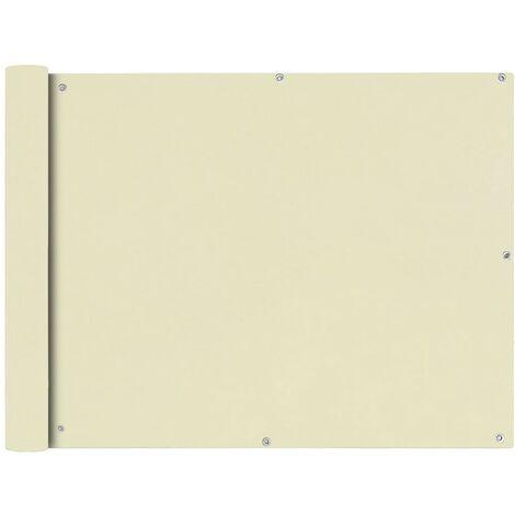 Paravento da Balcone in Tessuto Oxford 90x600 cm Crema