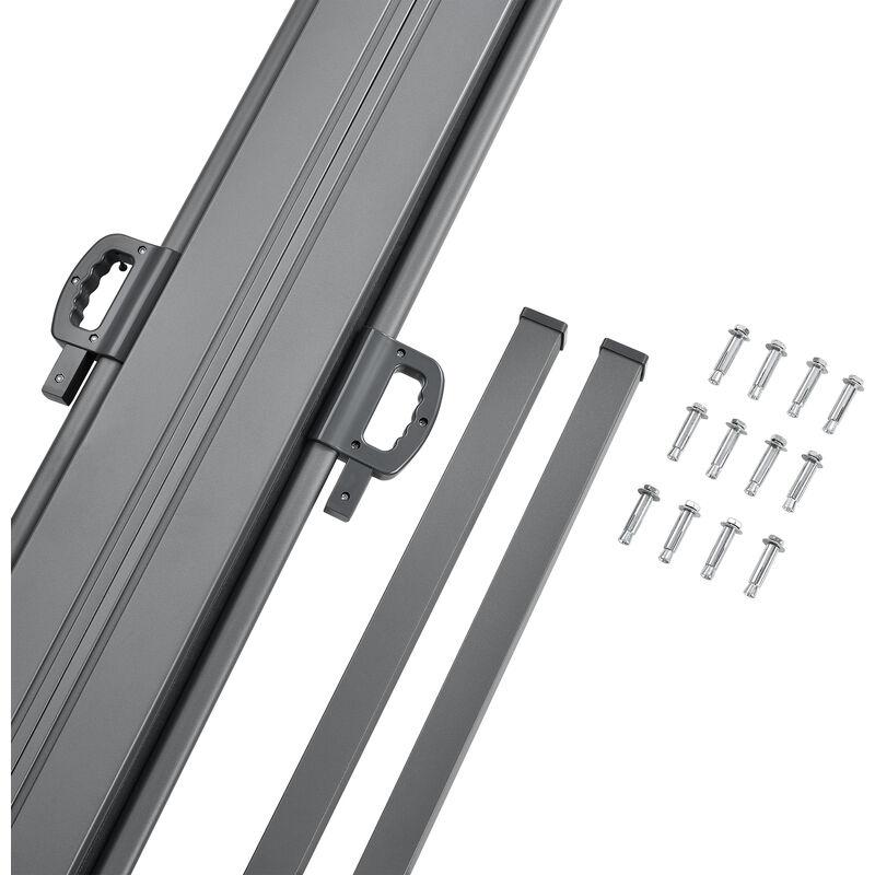 Grigio Parasole protezione vista cm 180 x pro.tec /® Paravento estraibile esterno doppio 2 x 300