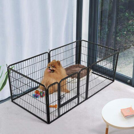 Parc 6 Panneaux pour Lapin/Cochon d'Inde, Chien ou Chat Extérieur ou Intérieur 60 cm de Haut