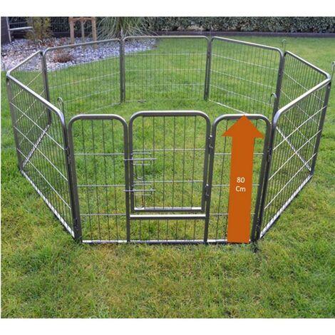 Parc enclos pour chiens grillage cage clôture intérieur et extérieur Hauteur 80cm modèle Dog run « M 481 »