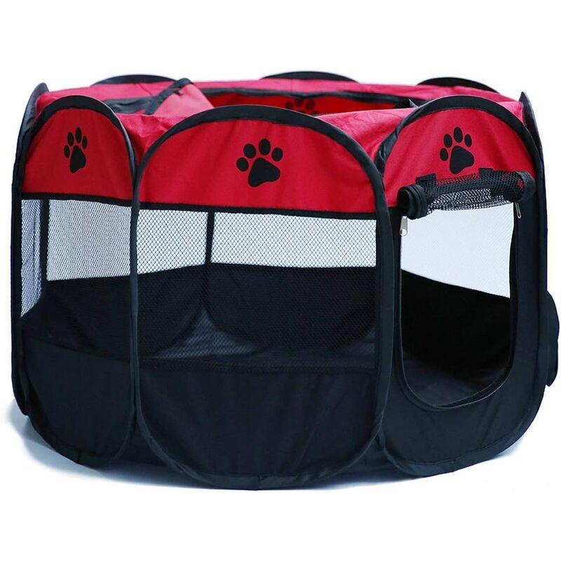 Parc portable pliable pour animaux de compagnie, tente lavable pliable pour animaux de compagnie chien maison chiot chat cage chenil clôture