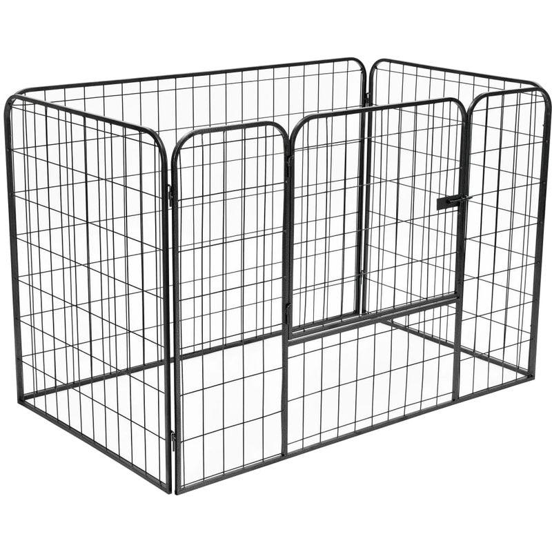 Parc robuste pour chiens Noir 120x80x70 cm Acier