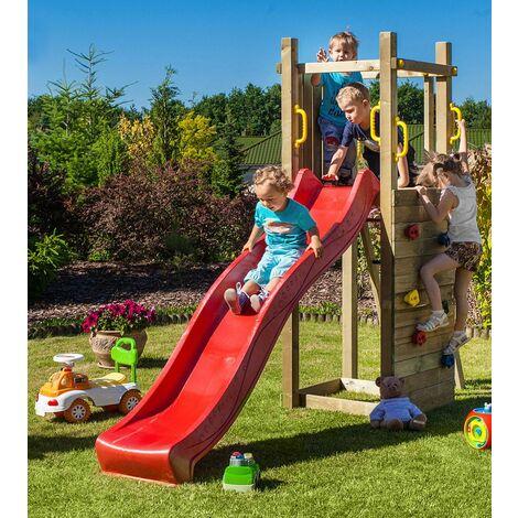 Parco Giochi Torretta Parete Arrampicata in Legno per Bambini