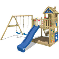 Parco giochi WICKEY Smart Lodge 120 Gioco da giardino in legno, area gioco