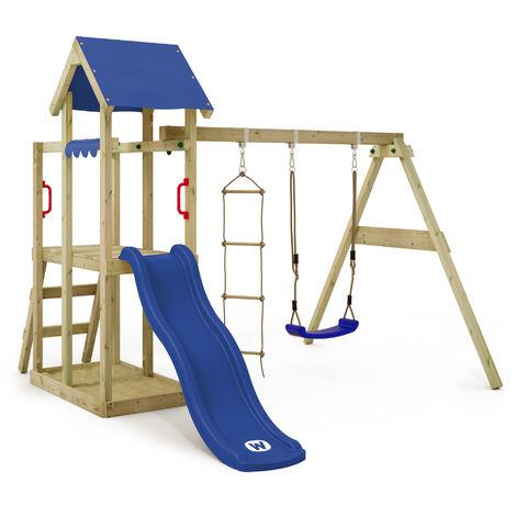 127a1cebbe Parco giochi WICKEY TinyPlace Gioco da giardino per bambini con altalena,  scivolo, sabbiera, tetto