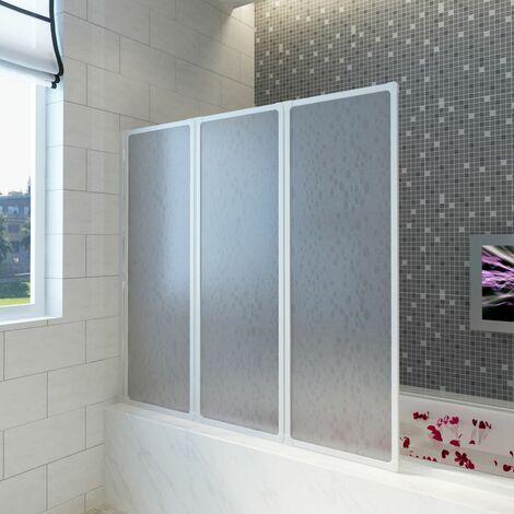 Pare baignoire à 3 volets rétractables 117 x 120 cm
