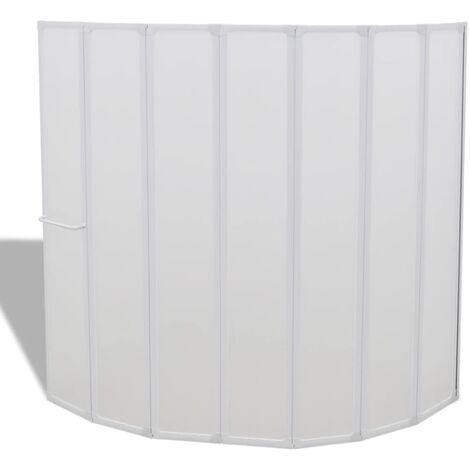 Pare baignoire à 7 volets avec porte-serviettes 140 x 168 cm