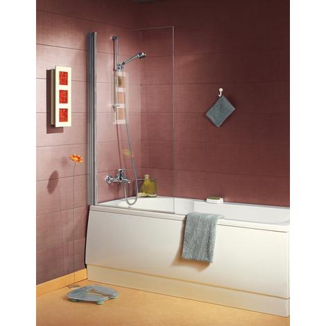 Pare-baignoire ANCOSWING, 1 volet pivotant en verre securit transparent 5mm