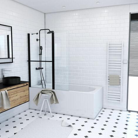 Pare baignoire avec porte serviette