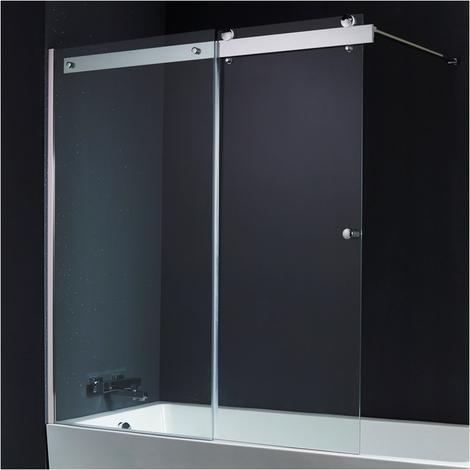 Pare baignoire coulissant 140*150 cm