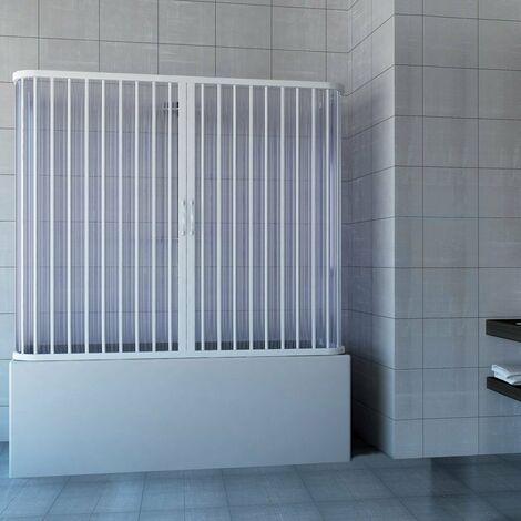 Pare baignoire douche 3 côtés en Plastique PVC mod. Nicla avec ouverture centrale