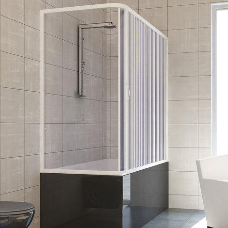 Pare baignoire douche en Plastique PVC mod. Nadia avec ouverture latérale