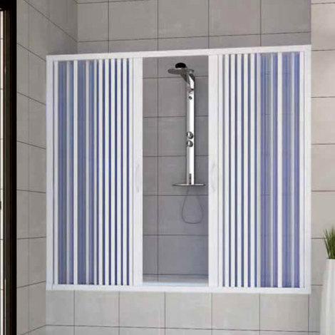 Pare baignoire douche en Plastique PVC mod. Nina avec ouverture centrale