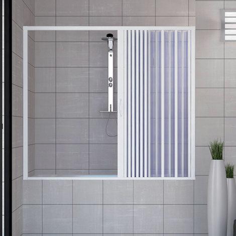 Pare baignoire douche en Plastique PVC mod. Nina avec ouverture latérale