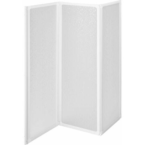 Pare-baignoire douche salle de bain 120 x 117 cm - Noir