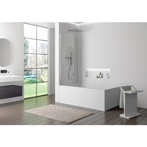 Pare baignoire en verre véritable NANO EX201 - 800 x 1400 x 6 mm